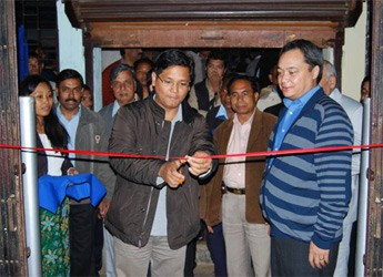 Ribbon cutting by Mr Conrad Sangma former IT minister