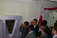 Dr. Mukul Sangma, Honorable Chief Minister launching the State Data Centre