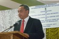 Mr. D.P. Wahlang, IAS , Commissioner and Secretary giving a welcome speach