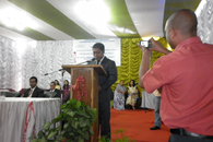 Dr. Mukul Sangma, Honorable Chief Minister speaking on the occassion